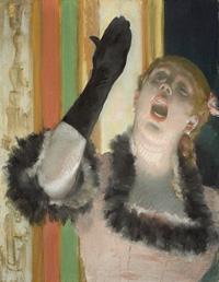 Chanteuse de Café by Edgar Degas